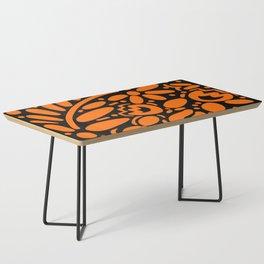 Beautiful Orange Otomi Coffee Table
