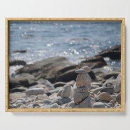 Balancing Serenity Rocks Serving Tray