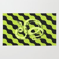 snake Area & Throw Rugs featuring Snake by LoRo  Art & Pictures