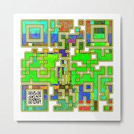 Excellence QR Code Metal Print