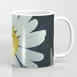 Galaxy Moon Daisy Coffee Mug