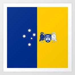 flag of canberra Art Print