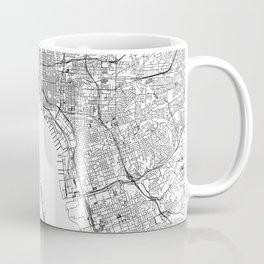 San Diego White Map Coffee Mug