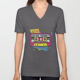 90s Never Forget - Vintage Cassette T-Shirt Unisex V-Neck