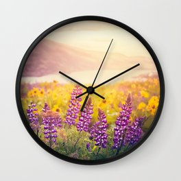 Columbia Gorge Wildflowers Wall Clock