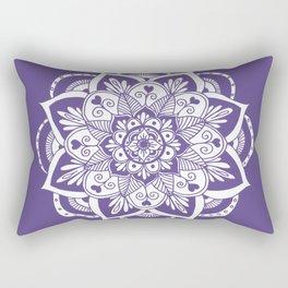 Ultraviolet Flower Mandala Rectangular Pillow
