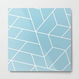 Geo Pattern Baby Blue Metal Print
