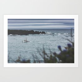 Headed Into Harbor Art Print