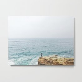 Standing on a cliff Metal Print