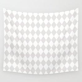 Diamonds (Platinum/White) Wall Tapestry