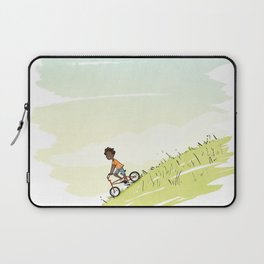 Boy on Bike Laptop Sleeve