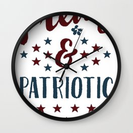 PRETTY AND PATRIOTIC T-SHIRT Wall Clock
