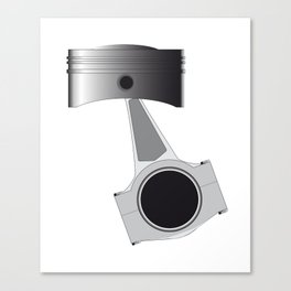 Isolated Auto Piston Canvas Print