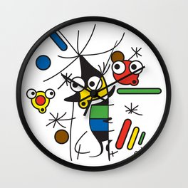 Ooh Zoo – art-series, Miro Wall Clock