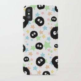 Soot Sprite with stars iPhone Case