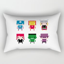 Pixel Avengers Rectangular Pillow