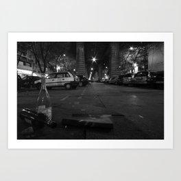 Under the Metro Art Print