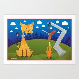 Tatos the Winnie Eating Alley Cat. Art Print