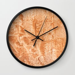 Peach nebulous watercolor Wall Clock