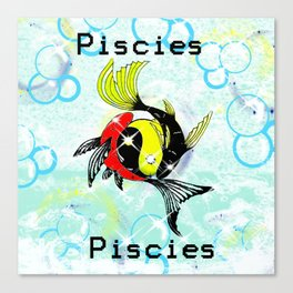 Pisces Astrology Sign Canvas Print
