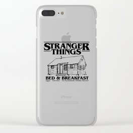 Stranger Bed and Breakfast Clear iPhone Case