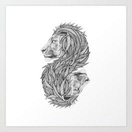 Courage to create Art Print