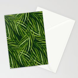 Tropical leaf pattern Stationery Cards