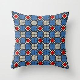 Floor Series: Peranakan Tiles 19 Throw Pillow