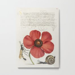 Finest vintage flower art Metal Print