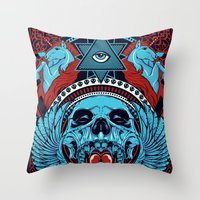 unicorns Throw Pillows featuring Unicorns by Tshirt-Factory
