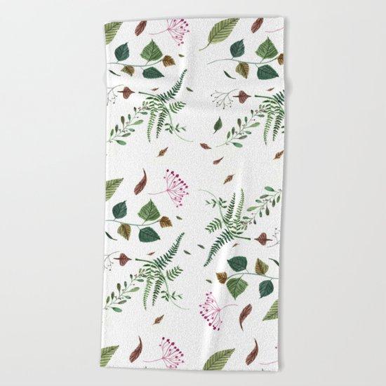 Plants Beach Towel