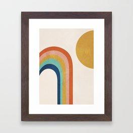 The Sun and a Rainbow Framed Art Print