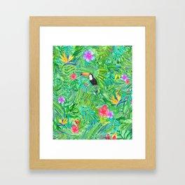 Foret tropicale Framed Art Print