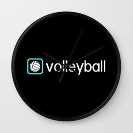 Volleyball (Blue) Wall Clock
