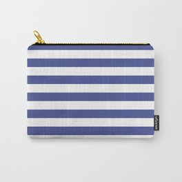 CVS0089 Ultramarine Blue and White Stripes Carry-All Pouch