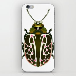 Green, White, Pink Beetle iPhone Skin