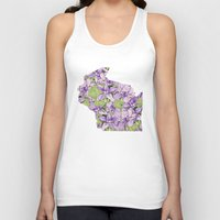 wisconsin Tank Tops featuring Wisconsin in Flowers by Ursula Rodgers