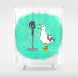 Flock of Gerrys Gerry Loves Tacos Gerry Music Explosion Shower Curtain