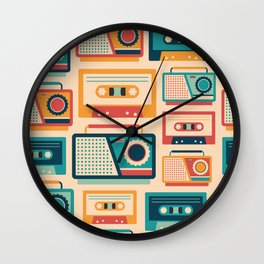 Audio Cassettes and Radios Wall Clock