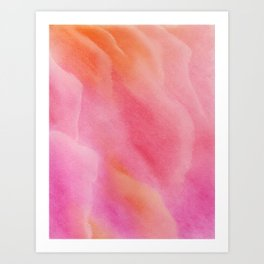 Dreamy Pastel Pink Clouds Art Print