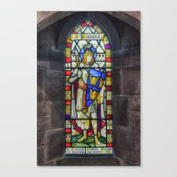 stained glass Canvas Prints featuring Stained Glass by Ian Mitchell