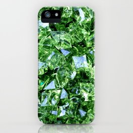 GREEN DIAMOND CLUSTER PATTERN iPhone Case