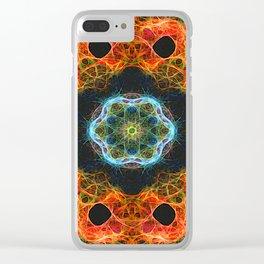 Fiery barnacles kaleidoscope 2 Clear iPhone Case