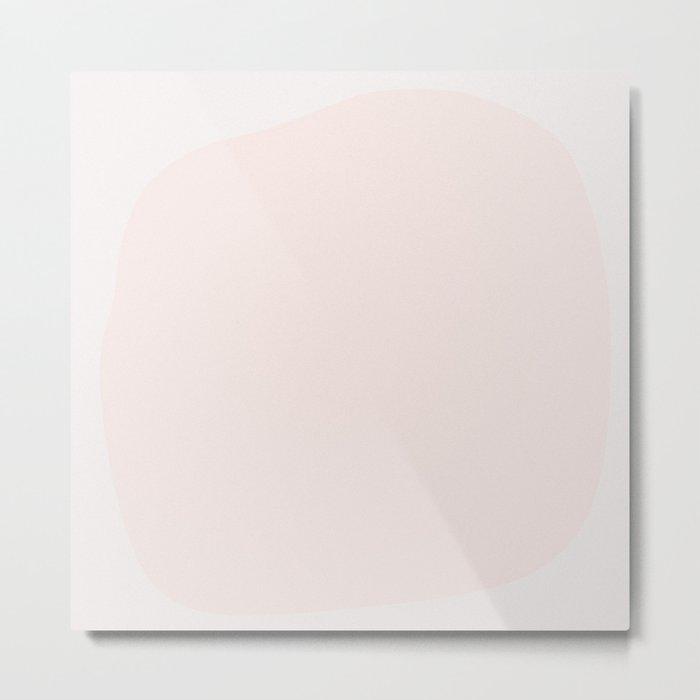 Abstract Shape Series - Pink Metal Print