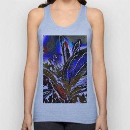 Vivid Foliage in blue Unisex Tank Top