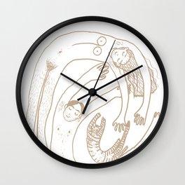 Familienwirbel hell Wall Clock