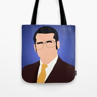 anchorman Tote Bags featuring Brick Tamland - Anchorman by Tom Storrer
