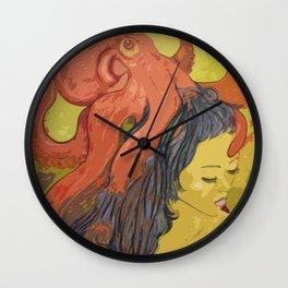 Miss Octopi Wall Clock