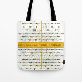 Acknowledge Your Ambiguities. Tote Bag