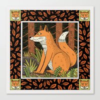 fleet foxes Canvas Prints featuring Foxes by Jack Teagle